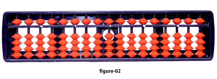 Red color student abacus with wooden frame