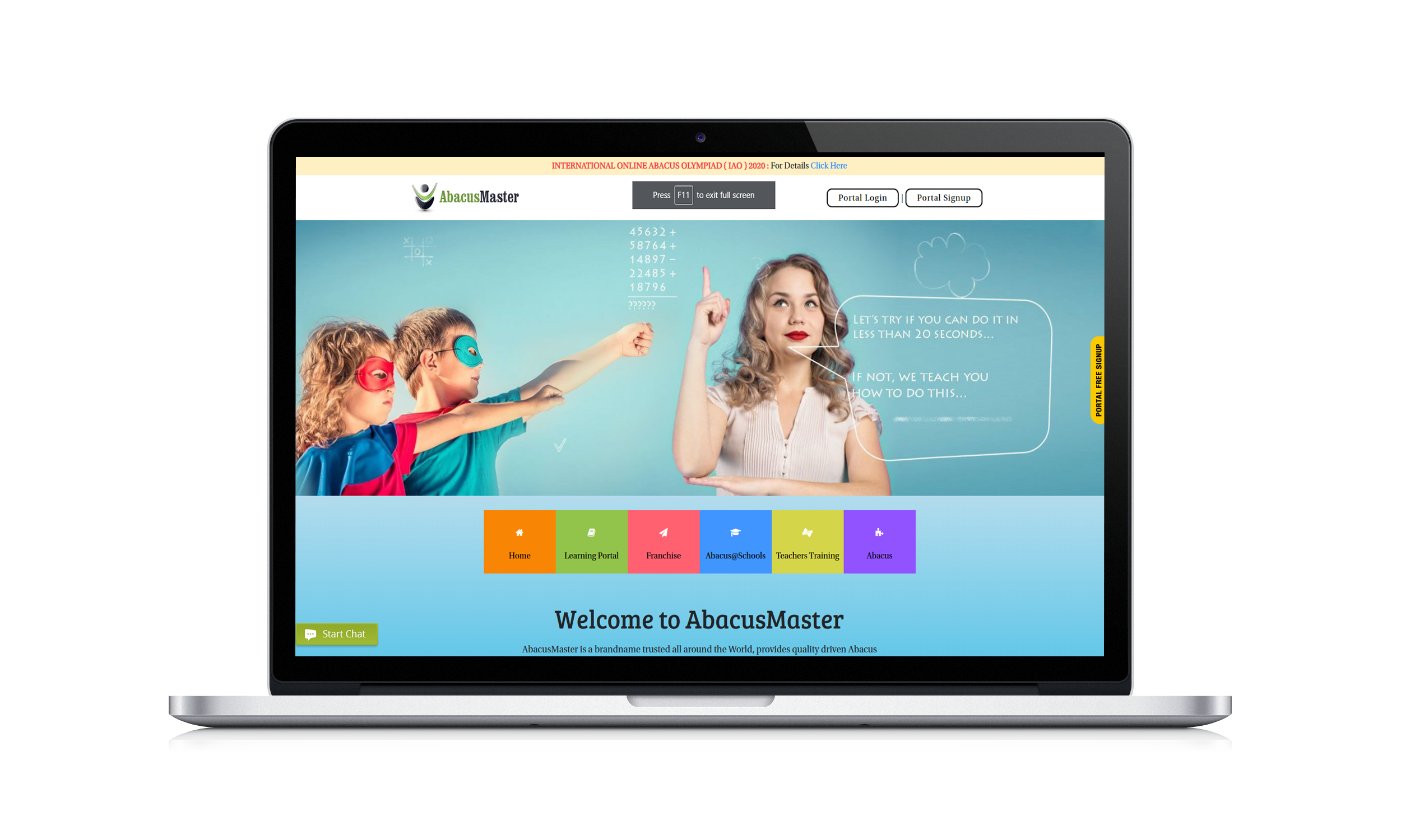 Best ever online learning platform for Abacus with interactive features